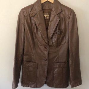 VINTAGE 8 Etienne Aigner Brown Leather Jacket EUC